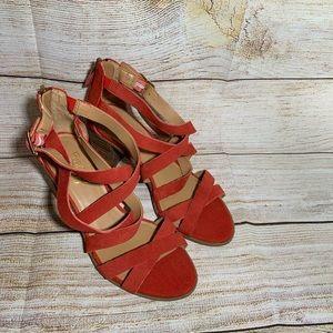 Franco Sarto woman's stewpot heels sandals size 6M